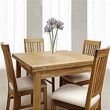Vale Furnishers - Vale Oak Flip Top Table with Fabric Chairs