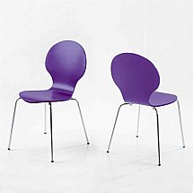 Vale Furnishers - Dining - Bistro Purple Dining Chair