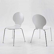 Vale Furnishers - Bistro White Dining Chair