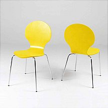 Vale Furnishers - Bistro Yellow Dining Chair