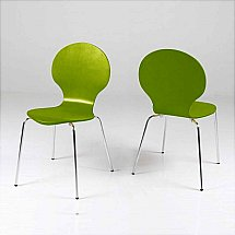 Vale Furnishers - Bistro Green Dining Chair