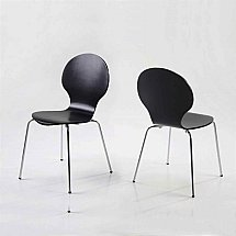 Vale Furnishers - Dining - Bistro Black Dining Chair