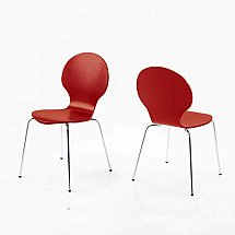Vale Furnishers - Bistro Red Dining Chair