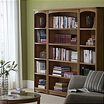 Nathan - Teak Collection Editions Tall Quadruple Bookcase 02