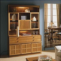 Nathan - Teak Collection Classic Cocktail Combination Wall Unit
