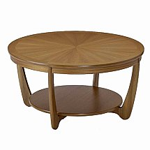 Nathan - Teak Collection Shades Sunburst Circular Coffee Table