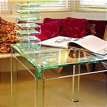 Vale Furnishers - Glass Lamp Table