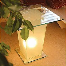 Vale Furnishers - Glass Table with Lamp in Base 