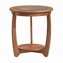Nathan - Teak Collection Shades Glass Top Lamp Table
