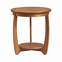 Nathan - Teak Collection Shades Sunburst Top Lamp Table