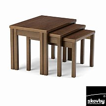 Skovby - SM224 Nest of Table in Walnut Finish