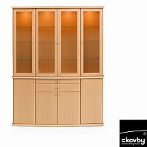 Skovby - SM504 with SM514 4 Door Sideboard with 4 Door Display Cabinet