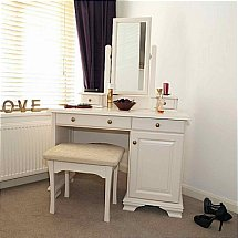 Vale Furnishers - Bedrooms - White Cliff Dressing Table and Mirror