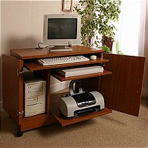Vale Furnishers - Modular Computer Desk in Teak