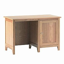Vale Furnishers - Cirrus Single Desk with Cupboard