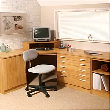 Vale Furnishers - Modular Home Office in Warm Oak