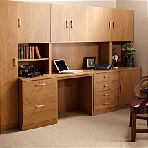 Vale Furnishers - Modular Home Office in English Oak