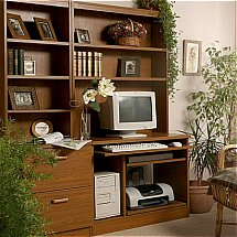 Vale Furnishers - Modular Home Office in Teak