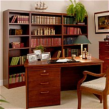 Vale Furnishers - Modular Home Office in Mahogany