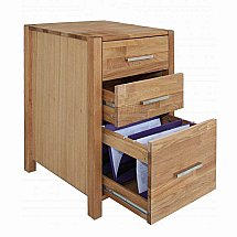 Vale Furnishers - Vale Oak Drawer Unit