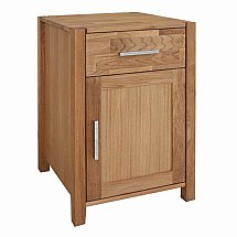 Vale Furnishers - Vale Oak 1 Door and 1 Drawer Unit