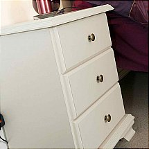 Vale Furnishers - Bedrooms - White Cliff Three Drawer Bedside