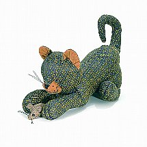 Dora Designs - Doorstop - Tibby the Cat with Mouse