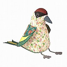 Dora Designs - Doorstop - Green Woodpecker