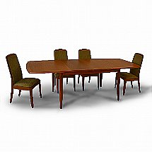 Nathan - Shades Extending Boat-Shaped Dining Table and 4 Chairs