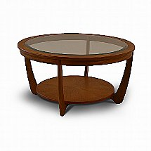 Nathan - Shades Round Coffee Table with Glass Top