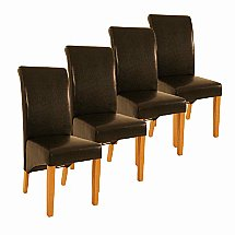 Vale Furnishers -  Set of 4 Scroll Back Dining Chairs