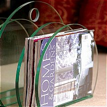 Vale Furnishers - Glass Magazine Rack 