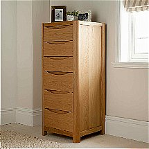 Vale Furnishers - Carlson Tall Six Drawer Chest