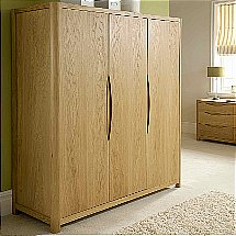 Vale Furnishers - Carlson Three Door Wardrobe