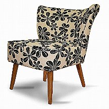 Vale Furnishers - Brann Chair in Roslin Black and White