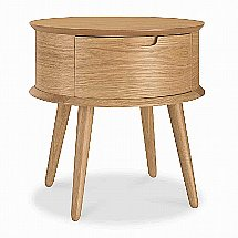 Vale Furnishers - Carnaby Oak Nightstand
