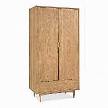 Vale Furnishers - Carnaby Oak Double Wardrobe