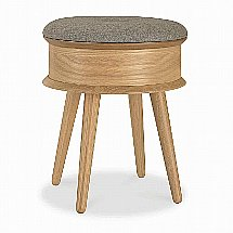 Vale Furnishers - Carnaby Oak Dressing Stool