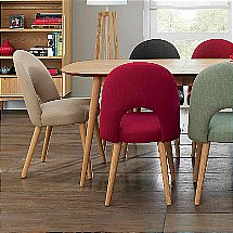 Vale Furnishers - Carnaby Oak Upholstered Dining Chair