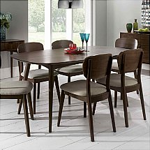 Vale Furnishers - Carnaby Walnut Six Seater Dining Table