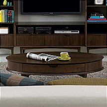 Vale Furnishers - Carnaby Walnut Coffee Table with Drawer