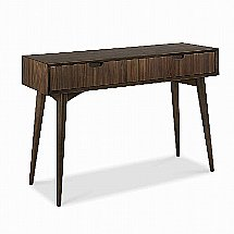 Vale Furnishers - Carnaby Walnut Console Table with Drawers
