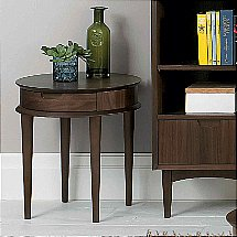 Vale Furnishers - Carnaby Walnut Lamp Table with Drawer