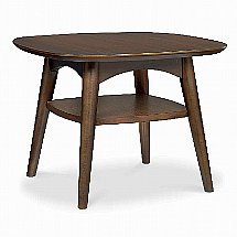 Vale Furnishers - Carnaby Walnut Lamp Table with Shelf