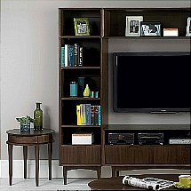Vale Furnishers - Carnaby Walnut Narrow Bookcase