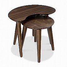 Vale Furnishers - Carnaby Walnut Nest of Tables