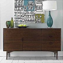 Vale Furnishers - Carnaby Walnut Wide Sideboard