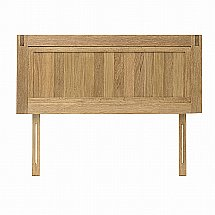 Vale Furnishers - Vale Oak 4ft 6in Headboard