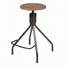 Vale Furnishers - Crane Adjustable Industrial Bar Stool