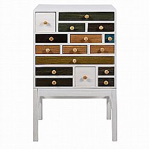 Vale Furnishers - Greta 16 Drawer Tall Chest